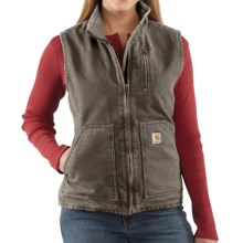 Carhartt Sandstone Vest - Sherpa-Lined (For Women) in Woodland - 2nds
