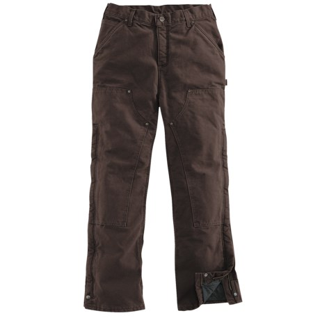 Carhartt Sandstone Waist Overalls - Quilt Lined (For Women) in Dark Brown