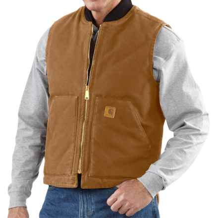 Carhartt Sandstone Work Vest - Factory Seconds (For Tall Men) in Carhartt Brown - 2nds