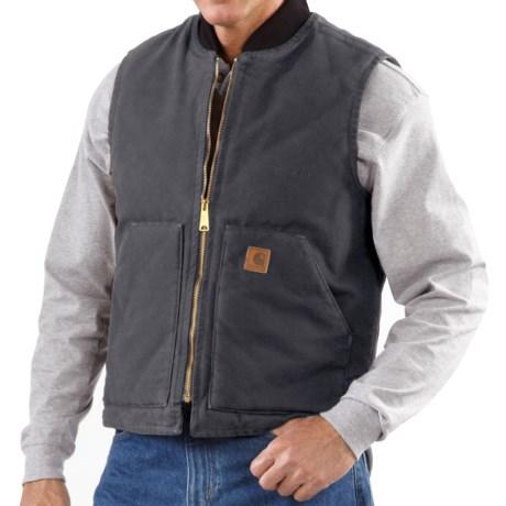 Image of Carhartt Sandstone Work Vest - Factory Seconds (For Tall Men)