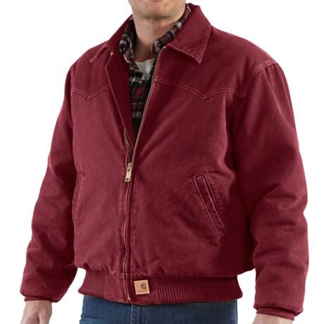 Carhartt Santa Fe Jacket - Sandstone Duck (For Men) in Dark Red