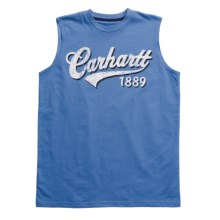 Carhartt Script Graphic T-Shirt - Sleeveless (For Boys) in Regatta - Closeouts