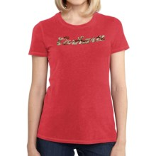 Carhartt Script Logo T-Shirt - Short Sleeve (For Women) in Geranium Coral Heather - 2nds