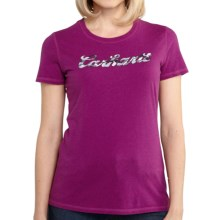 Carhartt Script Logo T-Shirt - Short Sleeve (For Women) in Magenta Heather - 2nds