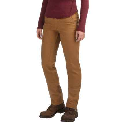 Carhartt Series 1889 Double-Front Canvas Dungaree Pants - Slim Fit, Factory Seconds (For Women) in Carhartt Brown - 2nds
