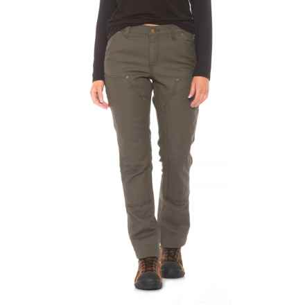 Carhartt Series 1889 Double-Front Canvas Dungaree Pants - Slim Fit, Factory Seconds (For Women) in Moss - 2nds
