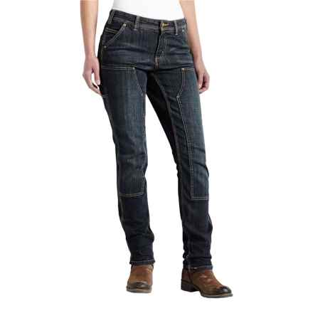 Carhartt Series 1889 Double-Front Denim Dungaree Pants - Slim Fit, Factory Seconds (For Women) in Timeworn Indigo - 2nds