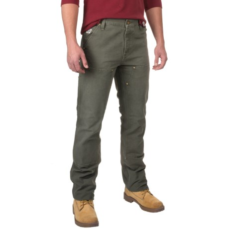 Carhartt Series 1889 Double-Front Work Dungaree Pants - Relaxed Fit, Factory Seconds (For Men) in Moss