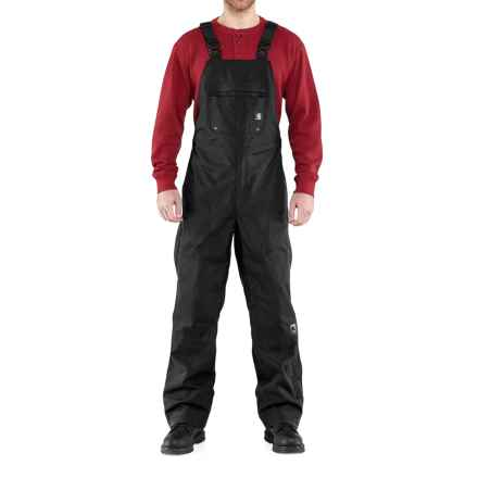 Carhartt Shoreline Bib Overalls - Waterproof (For Men) in Black - 2nds