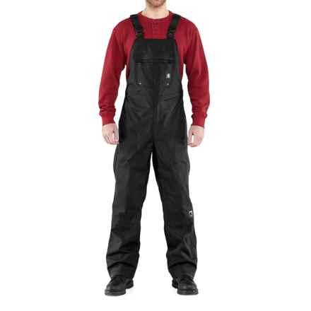 Carhartt Shoreline Bib Overalls - Waterproof (For Men) in Black - 2nds