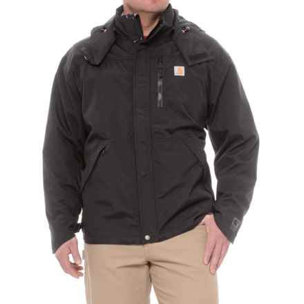 Carhartt Shoreline Jacket - Waterproof, Factory Seconds (For Big Men) in Black - 2nds
