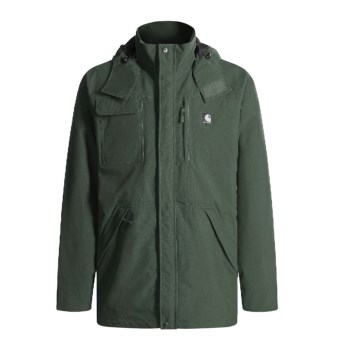 Carhartt Shoreline Nylon Coat with Hood - Waterproof (For Men) in Evergreen