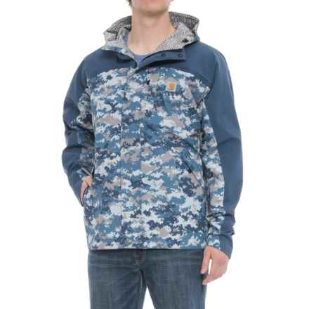 Carhartt Shoreline Vapor Jacket - Waterproof, Factory 2nds (For Big and Tall Men) in Dark Blue Digi Camo - 2nds
