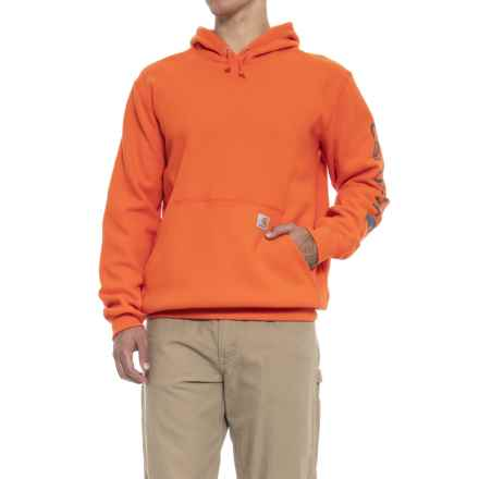Carhartt Signature Logo Sleeve Hoodie - Factory Seconds (For Men) in Orange - 2nds