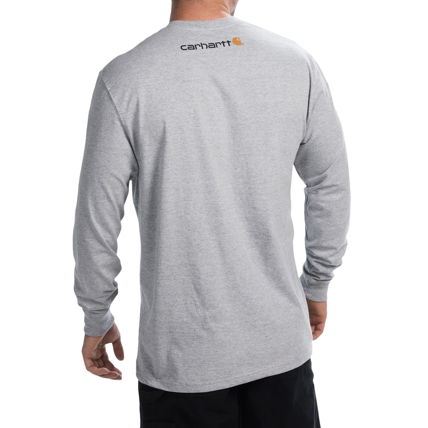 Carhartt signature logo t shirt for big and tall men for Big and tall long sleeve shirts