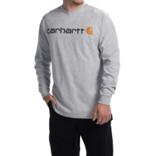 Carhartt Signature Logo T-Shirt - Long Sleeve (For Men) in Heather Grey - 2nds