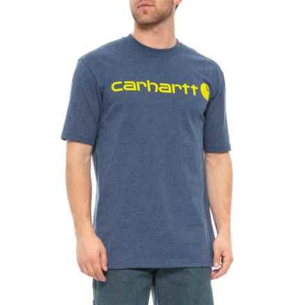 404b383e5d Carhartt Signature Logo T-Shirt - Short Sleeve, Factory Seconds (For Men)