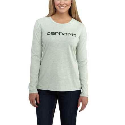 Carhartt Signature T-Shirt - Long Sleeve, Factory Seconds (For Women) in Aqua Grey Heather - 2nds
