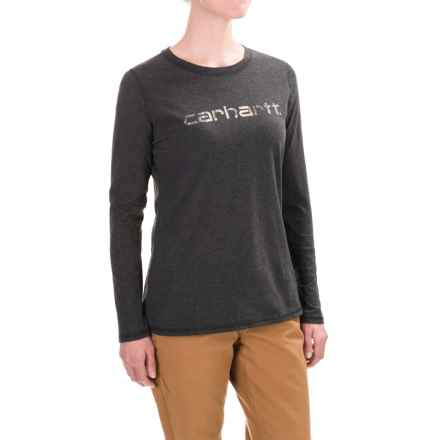 Carhartt Signature T-Shirt - Long Sleeve, Factory Seconds (For Women) in Black Heather - 2nds