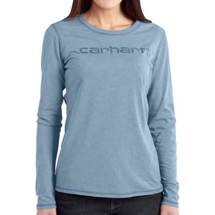 Carhartt Signature T-Shirt - Long Sleeve, Factory Seconds (For Women) in Lead Heather - 2nds