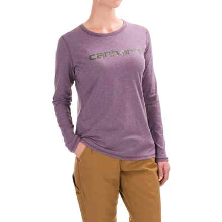 Carhartt Signature T-Shirt - Long Sleeve, Factory Seconds (For Women) in Purple Sage Heather - 2nds