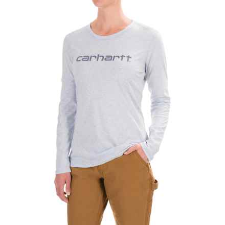 Carhartt Signature T-Shirt - Long Sleeve, Factory Seconds (For Women) in Soft Blue Heather - 2nds