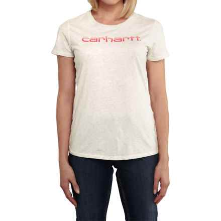 Carhartt Signature T-Shirt - Short Sleeve, Factory Seconds (For Women) in Winter White Heather - 2nds