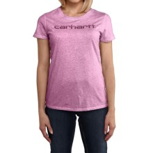 Carhartt Signature T-Shirt - Short Sleeve (For Women) in Dusty Mulberry Heather - 2nds