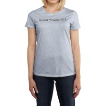 Carhartt Signature T-Shirt - Short Sleeve (For Women) in Lapis Blue Heather - 2nds