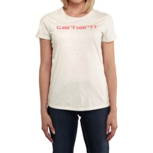 Carhartt Signature T-Shirt - Short Sleeve (For Women) in Winter White Heather - 2nds
