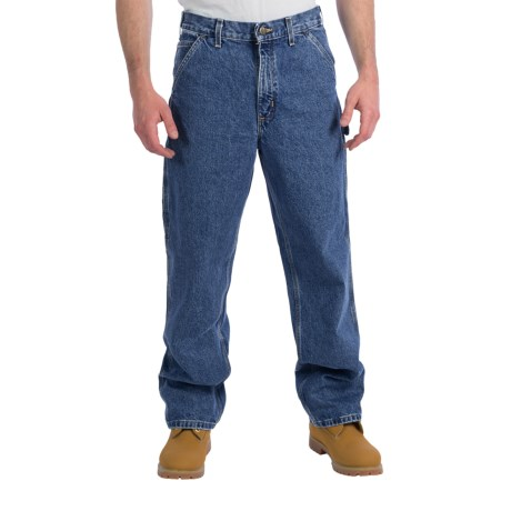 Carhartt Signature Work Dungaree Jeans - Factory Seconds (For Men) in Darkstone