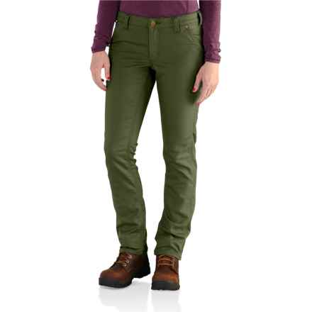 Carhartt Slim Fit Parker Pants - Factory Seconds (For Women) in Olive - 2nds