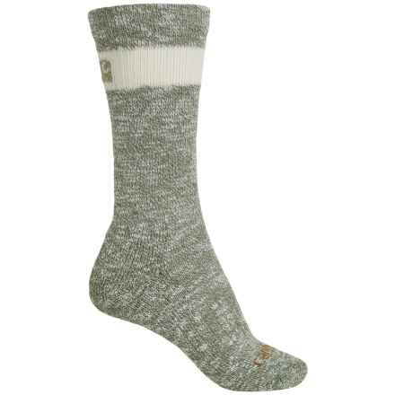 Carhartt Slub Hiker Socks - Merino Wool, Crew (For Women) in Green - Closeouts