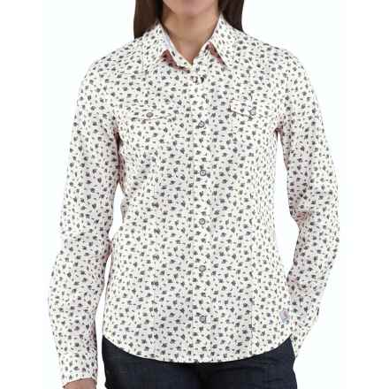 Carhartt Snap Front Printed Cotton Shirt - Long Sleeve (For Women) in Blue Dusk - 2nds