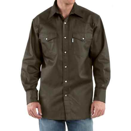 Carhartt Snap-Front Twill Work Shirt - Long Sleeve, Factory Seconds (For Men) in Moss - 2nds