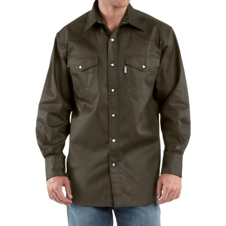 Carhartt Snap-Front Twill Work Shirt – Long Sleeve, Factory Seconds (For Men)