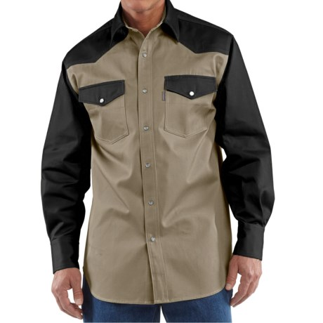 Carhartt Snap Front Twill Work Shirt Long Sleeve For