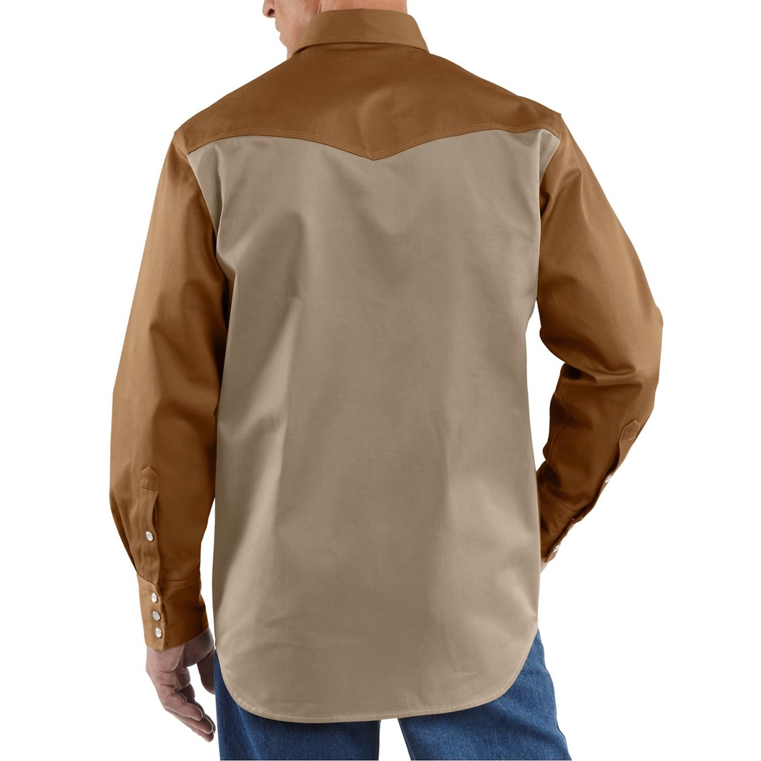 Carhartt snap front twill work shirt for tall men 4903m for Carhartt work shirts tall
