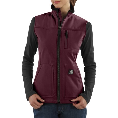 Carhartt Soft Shell Vest (For Women) in Burgundy