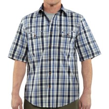 Carhartt Standish Plaid Shirt - Ripstop Cotton, Short Sleeve (For Men) in Dark Cobalt Blue - 2nds