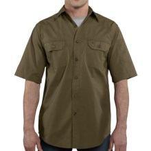 Carhartt Standish Solid Work Shirt - Ripstop Cotton, Short Sleeve (For in Army Green - 2nds