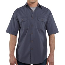 Carhartt Standish Solid Work Shirt - Ripstop Cotton, Short Sleeve (For in Bluestone - 2nds