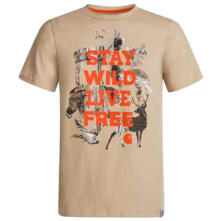 Carhartt Stay Wild T-Shirt - Short Sleeve (For Big Boys) in Pale Khaki - Closeouts
