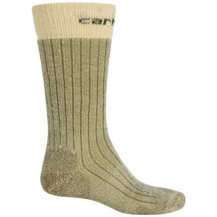 Carhartt Steel Toe Arctic Wool Boot Socks - Mid Calf (For Men) in Moss - Closeouts