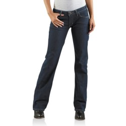 Carhartt Straight Fit Basic Jeans - Bootcut (For Women) in Dark Night