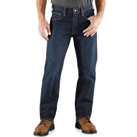 Carhartt Straight-Fit Denim Jeans - Straight Leg, Factory Seconds (For Men) in Island Blue Heather
