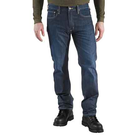 Carhartt Straight-Fit Denim Jeans - Straight Leg (For Men) in Weathered Indigo - 2nds