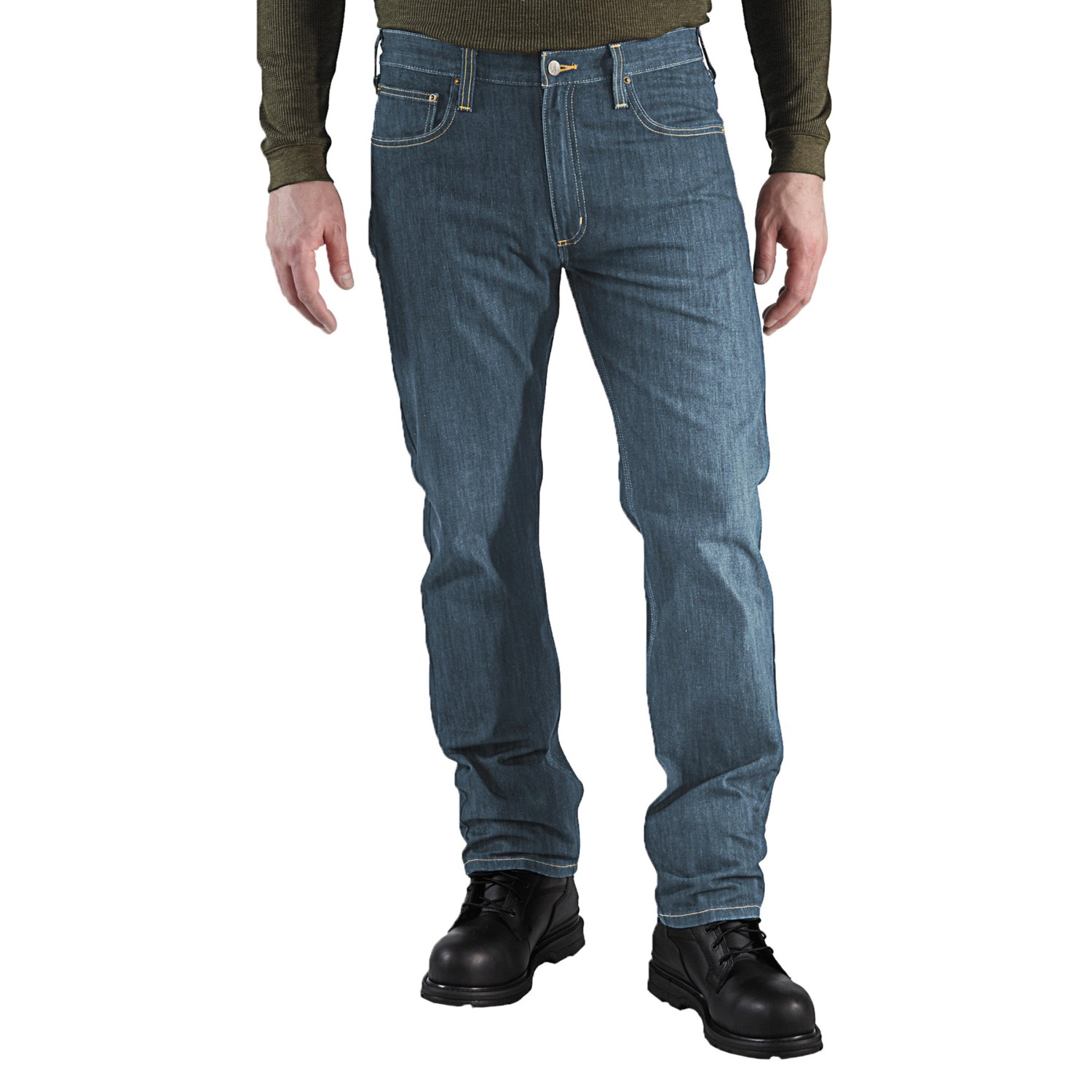 carhartt straight fit denim jeans for men. Black Bedroom Furniture Sets. Home Design Ideas