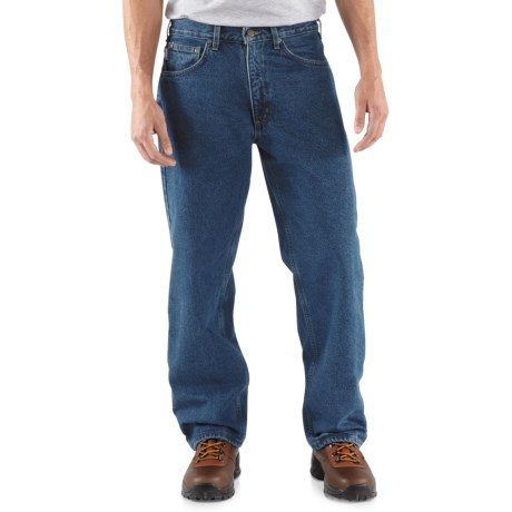 Carhartt Straight-Leg Jeans - Flannel Lined, Factory Seconds (For Men) in Dark Stone Wash