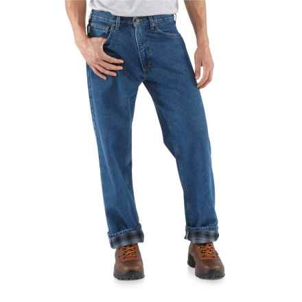 Carhartt Straight-Leg Jeans - Flannel Lined, Factory Seconds (For Men) in Darkstone - 2nds